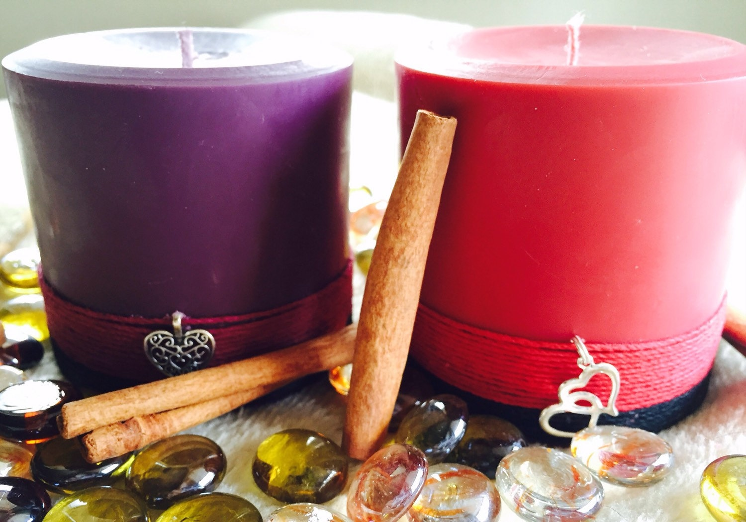 Spell Candle-Wiccan Candle-Soy Candles-cinnamon scented candle