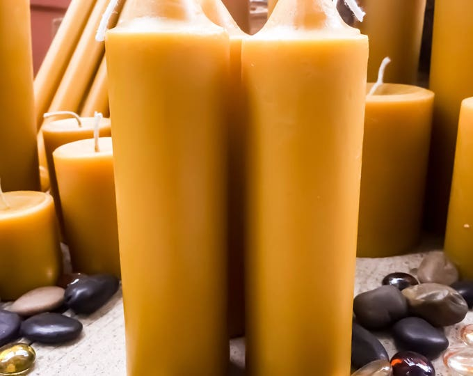 """Pure Organic Beeswax Large Taper Candle. 1 3/4"""" wide Pure Beeswax taper candle"""
