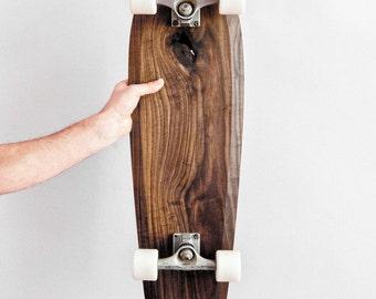 Skateboard Cruiser Wood Skateboard Walnut Walnut Longboard from Walnut Wooden Skateboard Rollwood Big Cruiser Wood Design