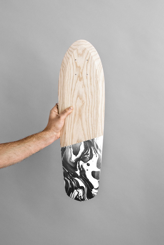 Skateboard Marbel Wooden Cruiser Ash Rollwood Longboard image 1