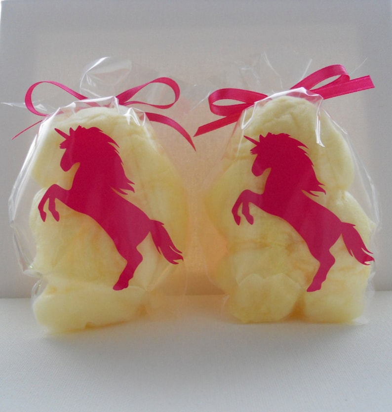 Cotton Candy Unicorn Party Favors Unicorn Treat Bags Unicorn Etsy