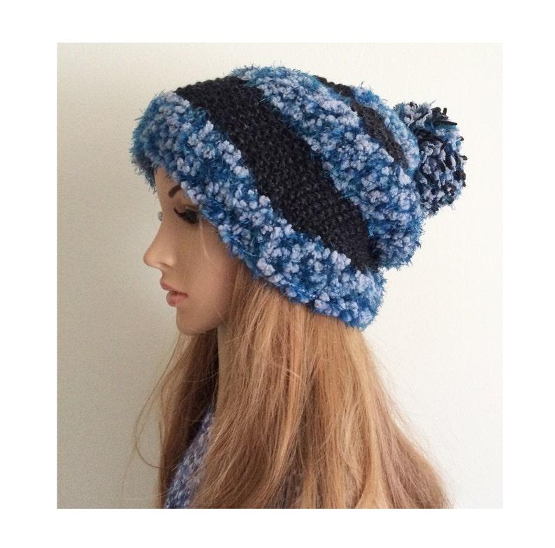 3bfc445e4079a Winter hat Knit Pom Pom beanie slouchy classic beanie blue