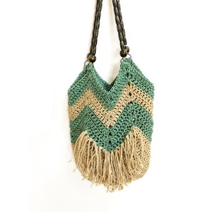 Crossbody black boho fringe bagSummer bagHippie bagCrochet handbagHand knit purseKnit toteFestival baground purseFree shipping USA