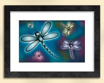 Libelle-Kunstdruck