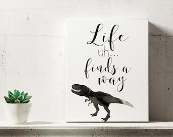Dr. Ian Malcolm Jurassic Park Digital Art Print, Instant Download, Jurassic Park Movie Quote, Jeff Goldblum, Wall Art, Quote Art