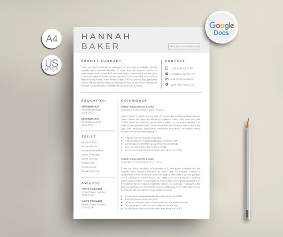 Google Docs Resume Template Google Cv Template Modern Google Docs Resume Simple Google Docs Resume Elegant Google Docs Resume Cv