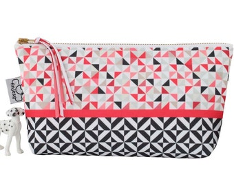 Large and small makeup bag, Cute cosmetic bag with an original ANJESY design