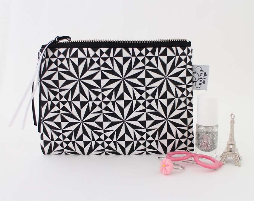 Porte monnaie trousse en tissu pour femme imprim graphique etsy - Porte monnaie en tissu ...