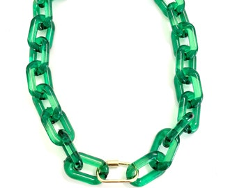 Acrylic Chain with Carabiner Clasp