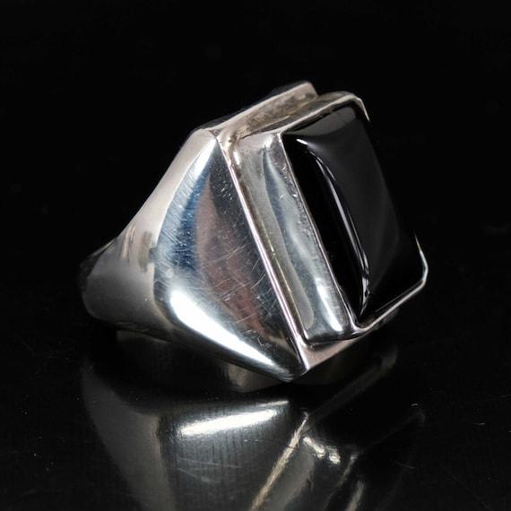 Native American Jewelry Navajo Black Ring Onyx Jew