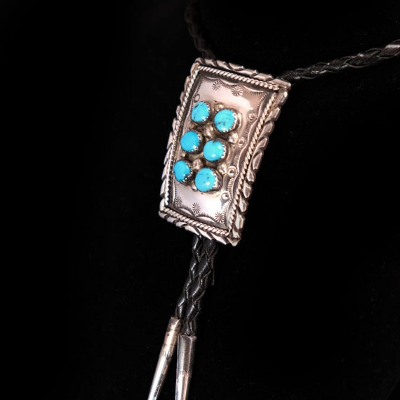 Southwest Bolo Tie Turquoise Bolo tie Sterling Sil