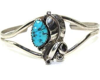 Turquoise Cuff Bracelet Sterling Silver Bracelet, Southwest Jewelry Native American Jewelry, Turquoise jewelry, Navajo Bracelet Boho Style