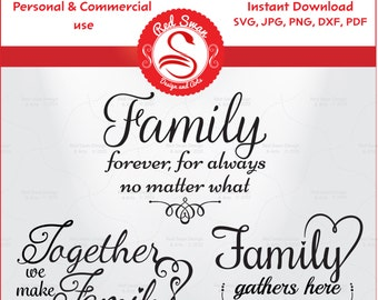 3 Family Quotes Cutting File Svg Dxf Pdf Jpg Png Etsy