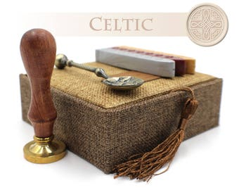 Christian Celtic Cross Seal - Wax Stamp Gift Set / Kit