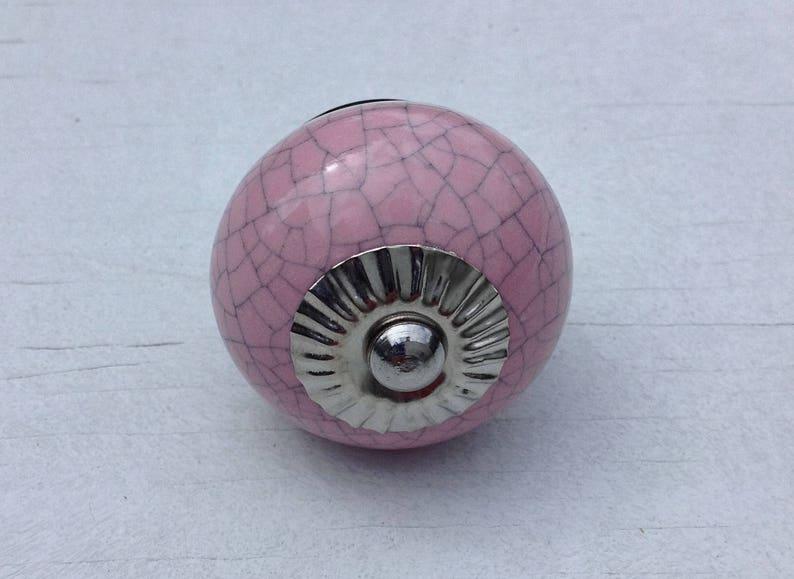 Girl/'s Baby Bedroom Decoration 4 Pink Crackle Handmade Ceramic Dresser Drawer Knobs  Cupboard Cabinet Door Hardware Knob Pulls