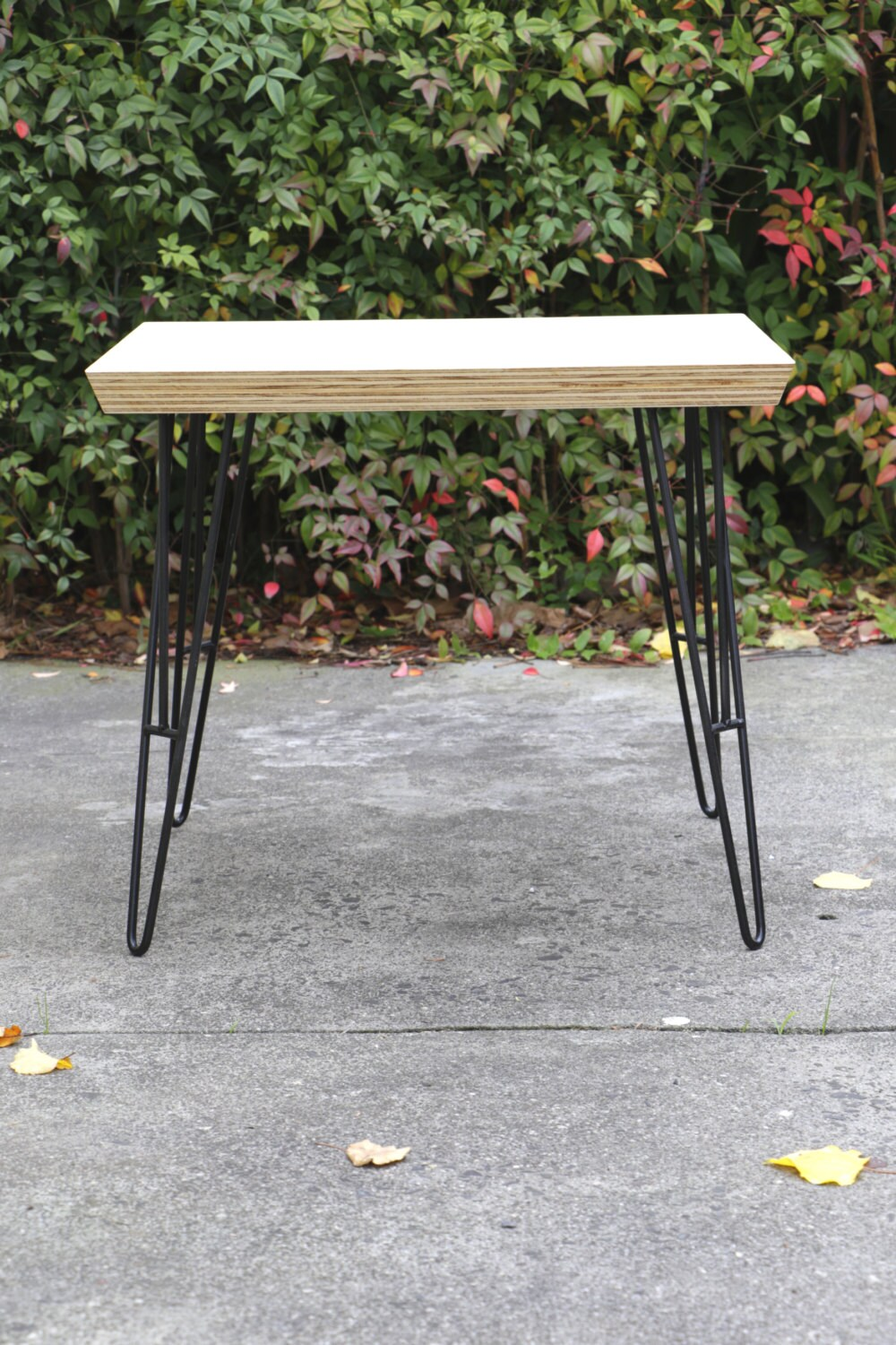 Plywood Coffee Table Steel Hairpin Legs Living Room Etsy