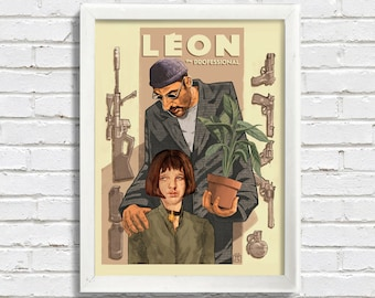 Movie Print: Cult Classic - Leon, The Professional - Art Poster