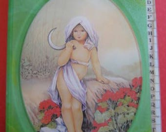 Vintage Address Book / Phone Book / Telephone / Directory / Art Nouveau  / Baby With Scicle / Gift