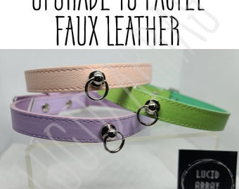 Upgrade to Pastel Faux Leather.