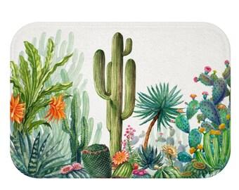 Cactus Bath Mat | Cactus Bathroom Mat | Cactus Shower Mat | Cactus Bath Rug | Cactus Bathroom Décor | Cactus Bath Décor | Cactus Bathroom