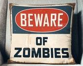 Zombie Pillow Zombie Gifts Zombie Throw Pillow Zombie Pillow Cover The Walking Dead Gifts Zombie Pillow Case Zombie Decor