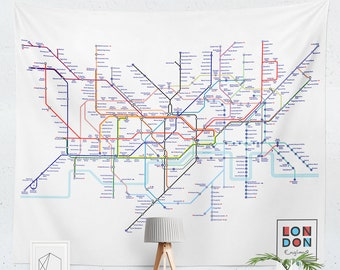 Printable London Subway Map.London Tube Map Etsy