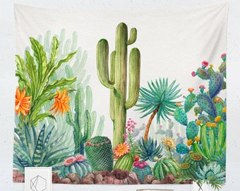 Cactus Tapestry | Cactus Wall Hanging | Cactus Wall Décor | Cactus Wall Art | Green Tapestry | Green Wall Hanging | Green Wall Décor | Green
