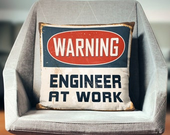 Engineer Gifts   Engineer Pillow Cover   Engineering Gift   Throw Pillow   Pillow Case   Pillowcase   Home Decor   Art   Print