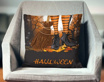 Witch Pillow   Witch Pillow Cover   Witch Decoration   Halloween Pillow   Witch Cushion   Witch Pillow Case   Witch Decor   Witch Home Decor
