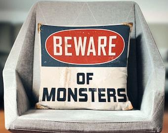 Monster Pillow   Monster Decor  Monster Throw Pillow    Monster Decorations   Kids Decor    Monster Gift   Monsters Inc Decor