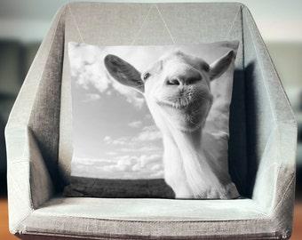 Goat Pillow | Farmhouse Pillows | Goat Decor | Farm Animal Pillow | Farm Animal Decor | Goat Art | Goat Cushion |  Farm Pillow