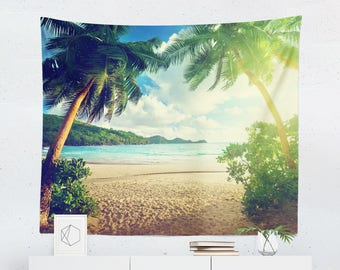 Tropical Tapestry | Beach Tapestry | Island Tapestry | Tropical Wall Decor | Beach Well Decor | Island Wall Decor