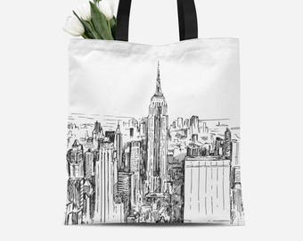 New York Tote | New York Tote Bag | New York Canvas Bag | New York Canvas Tote | New York Canvas Tote Bag | New York Gift | New York Bag