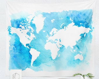 World Map Tapestry   World Map Wall Hanging   World Map Wall Décor   World Map Wall Art   Map Tapestry   Map Wall Hanging   Map Wall Décor  