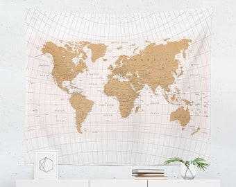 World map tapestry etsy world map tapestry map wall tapestry world map wall art world map wall hanging world map art world map wall decor gumiabroncs Images