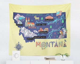 Montana tapestry etsy montana tapestry montana wall tapestry montana map tapestry montana map wall tapestry montana wall decor montana wall hanging gumiabroncs Images