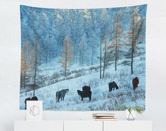 Nature Tapestry | Nature Wall Tapestry | Horse Tapestry | Horse Wall Tapestry | Nature Wall Decor | Nature Wall Hanging | Horse Wall Decor