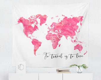 Map Tapestry | Map Wall Tapestry | Map Wall Decor | Map Gift | Map Wall Art  | Map Art | Map Decor