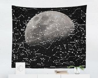 Constellation Tapestry | Constellation Wall Tapestry | Stars Tapestry | Stars Wall Tapestry | Constellation Wall Decor | Constellation Wall