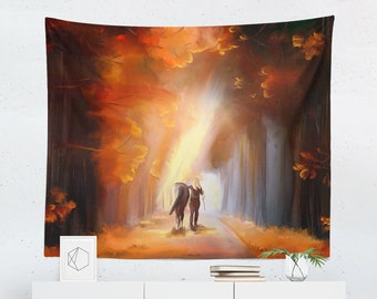 Horse Tapestry | Horse Wall Tapestry | Equestrian Tapestry | Equestrian Wall Tapestry | Horse Wall Decor | Horse Wall Hanging | Equestrian