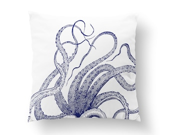 Octopus Throw Pillow Etsy