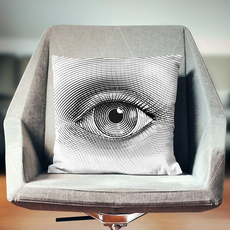 Optometry Gift  Eye Pillow Case  Eye Art  Optometrist Gift image 0