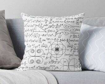 Math Gifts | Math Pillow | Math Teacher Gift | Gifts for Math Teacher | Math Equation | Gift for Teacher | Math Geek | Math Nerd