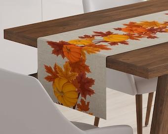 Autumn Table Runner | Rustic Fall Table Runner | Thanksgiving Table Linen | Farmhouse Table Decor | Thanksgiving Table Runner