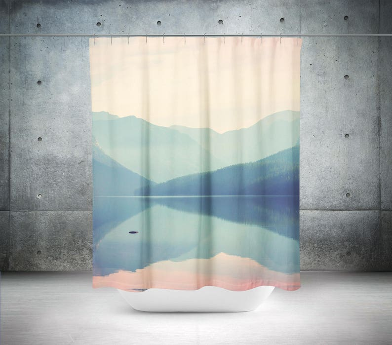 Mountain Shower Curtain Photo Wanderlust