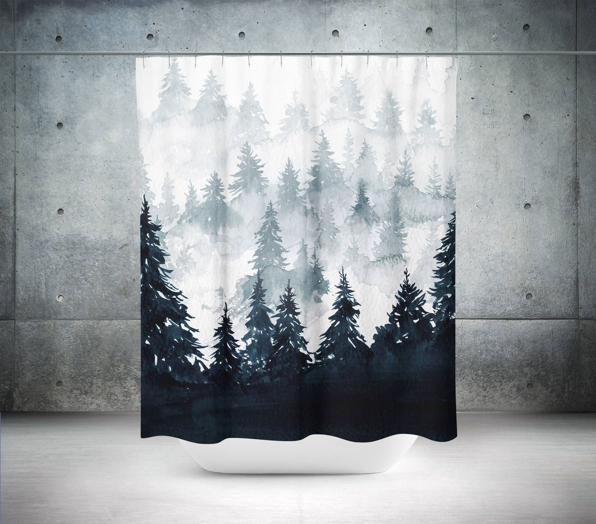 Trees Shower Curtain Scenic Nature