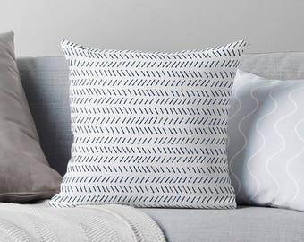 Herringbone Pillow | Herringbone Cushion | Chevron Cushion | Chevron Pillow | Herringbone Pillow Cover | Blue and White Pillow