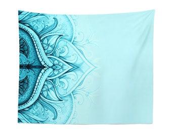 Mandala Tapestry   Mandala Wall Hanging   Mandala Wall Décor   Mandala Wall Art   Blue Tapestry   Blue Wall Hanging   Blue Wall Décor   Blue