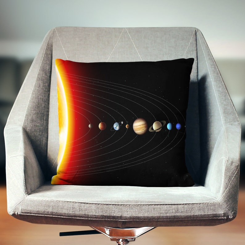 Space Pillow  Planet Pillow  Solar System Decor  Space image 0