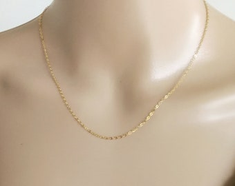 14k Gold Filled Necklace, Dainty Gold Chain Necklace, Delicate Gold Chain Necklace, Gold Necklace, Minimal Gold Necklace, Everyday Necklace